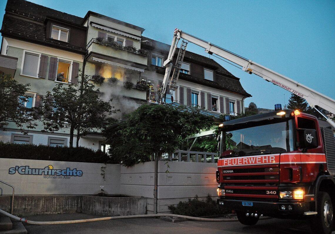 Feuerwehrübung im Alterszentrum Churfirsten in Nesslau: Zusammenarbeit hat gut funktioniert