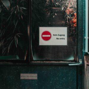 Zutrittsverbot